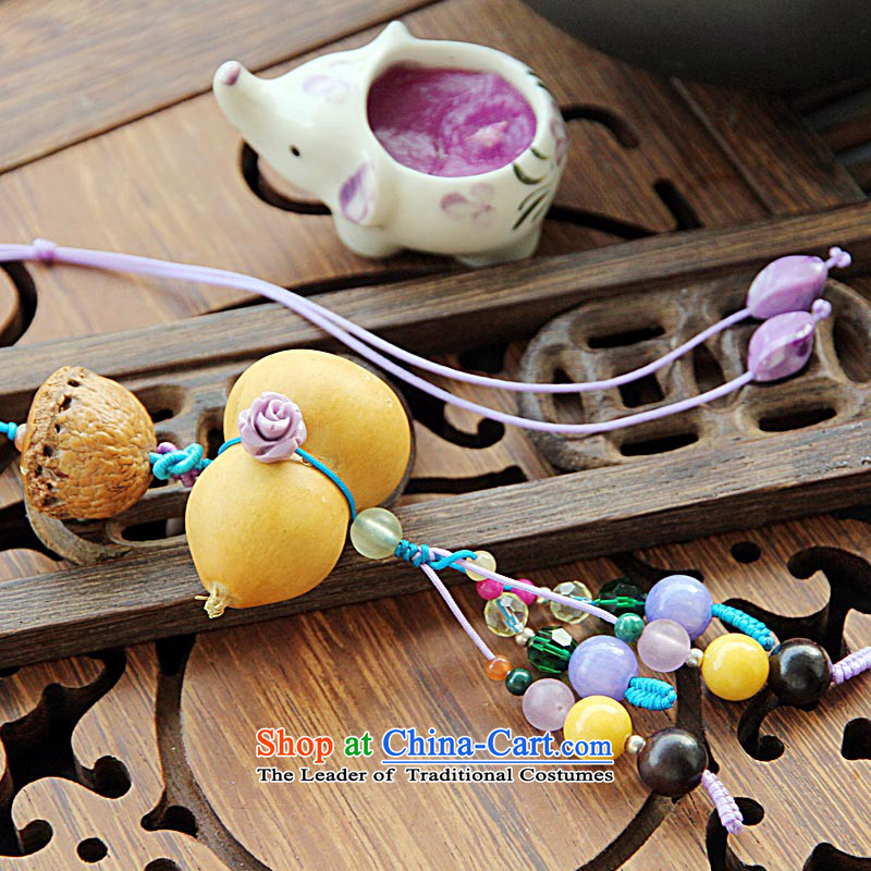 Maizawa days natural lime gourd various small natural stone package hanging cart hanging girls China wind gift