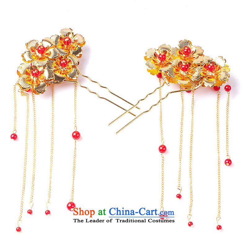Water _ bridal classics by Ornate Kanzashi stream Su, classical style qipao and Ornate Kanzashi sub-Head Ornaments Chinese gold ornaments Accessories sub-one-to-bag yarn