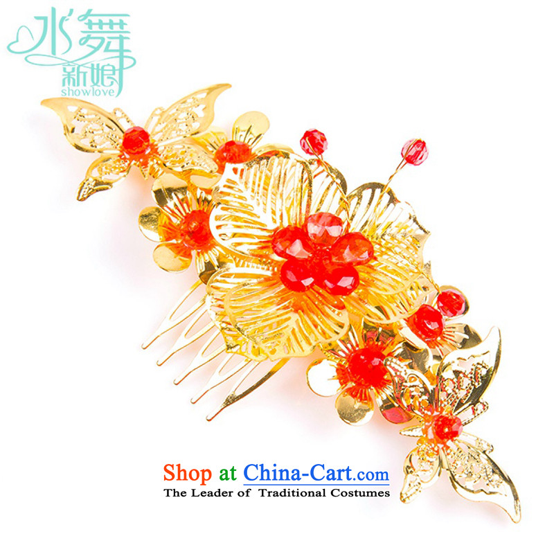 Water & bridal costume of Qipao Chinese classical-brush Sau Wo Service accessories china wind hair decorations red Head Ornaments