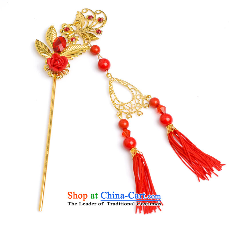 Water & bridal Chinese Classics by Ornate Kanzashi headdress edging kanzashi sub-step red rock and classic furnishings edging kanzashi sub- paragraph A root