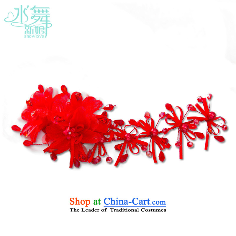 Water & bridal headdress and flower blossoms Chinese cheongsam dress marriage hair accessories accessories red flower Head Ornaments yarn bag