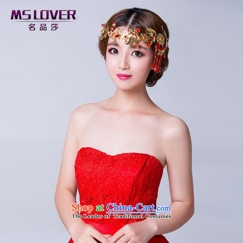 聽Ancient headdress married mslover accessories retro head-dress ornaments Chinese bride red Head Ornaments聽TH140935聽red soft link Head Ornaments
