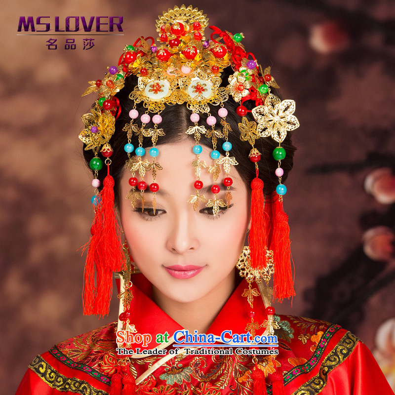 Flow Su Feng Crown mslover Chinese bride-soo wo service accessories to the Dragon Head Ornaments costume use Head Ornaments earrings GS141201 kit