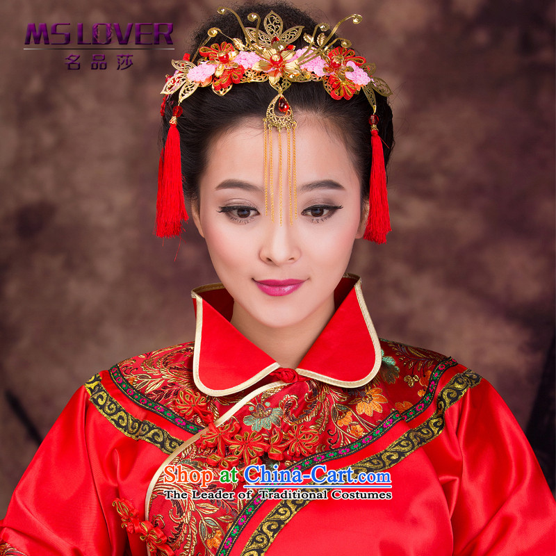 Mslover2015 new furnishings and bride Bong-soo and ornaments Chinese costume crown longfeng use su accessories GS141205 flow