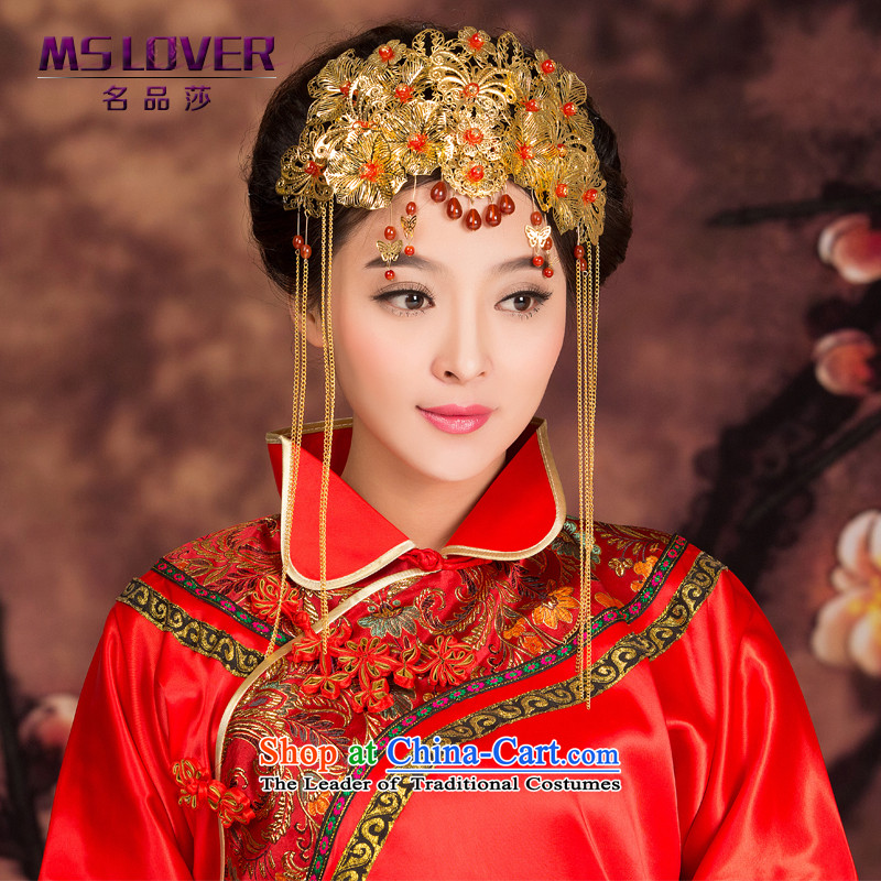 聽The bride of Crown mslover Bong-sam Hui Red Head Ornaments New Classical Chinese marriage was adorned with head of international聽GS141213 edging