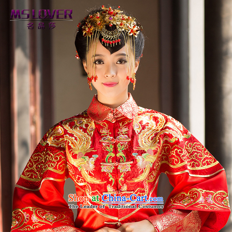 聽Sau Wo Service brides mslover accessories Head Ornaments was adorned with Chinese classical hair decorations for edging聽GS141214 Ornaments