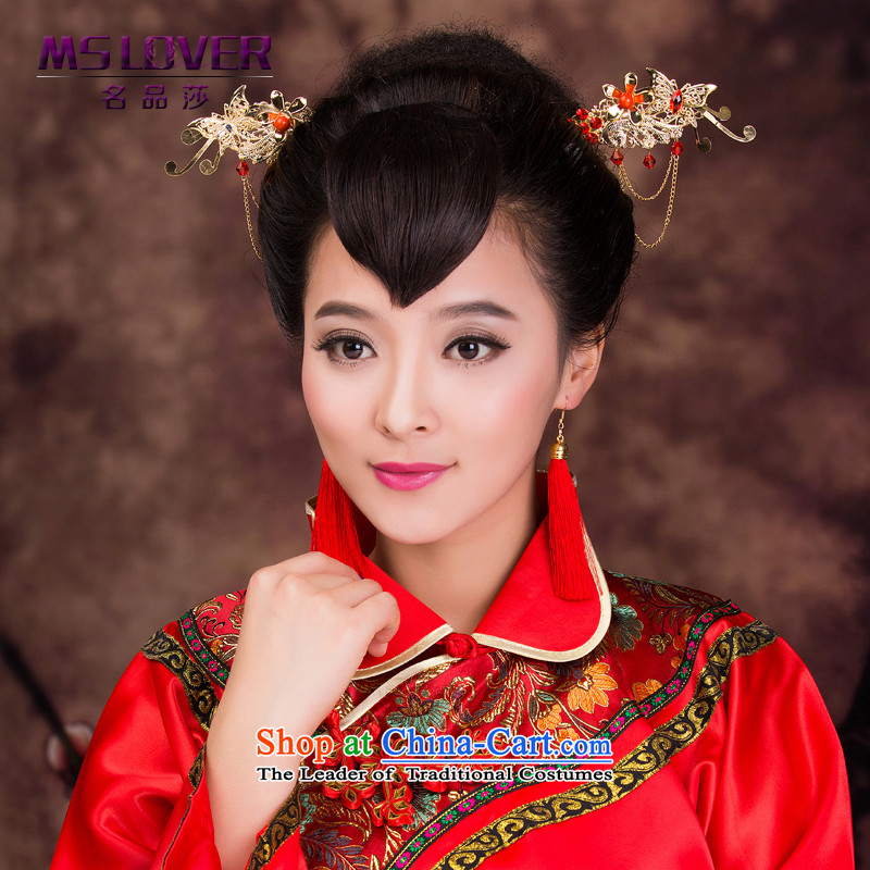 The bride and the Chinese mslover marriage Head Ornaments costume qipao and ornaments made from the game by Ornate Kanzashi amount to shake the step Kim GS141221