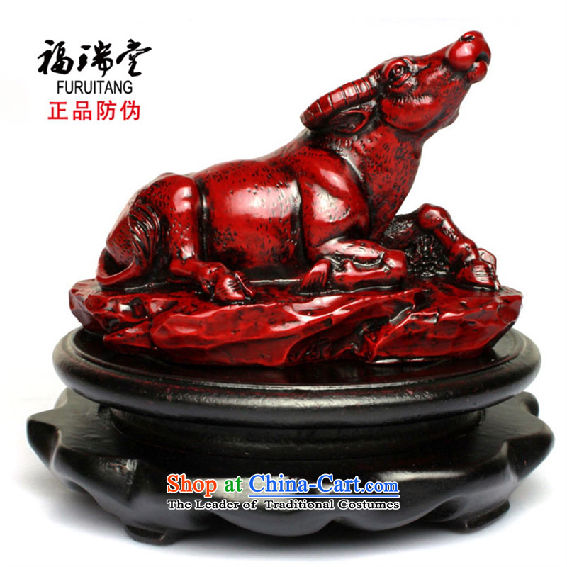 B : b water b stone rosewood effect cattle zodiac cattle is 12 for the women of the Chinese zodiac cattle2368 craft home decorations ornaments with a base