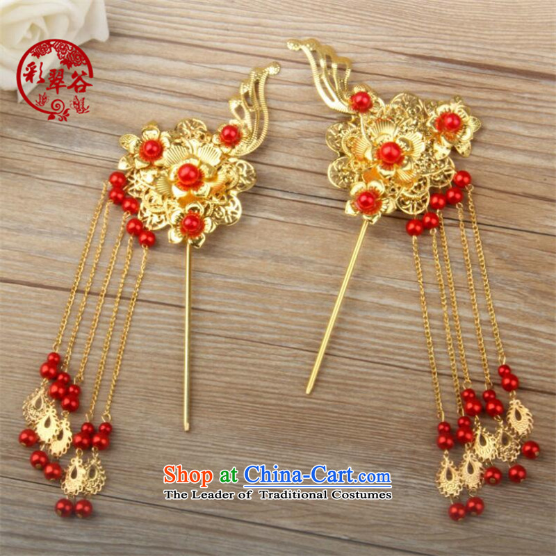 Also the Hong Kong Chinese classics brides Valley Head Ornaments by Ornate Kanzashi edging barrette a pair of gift