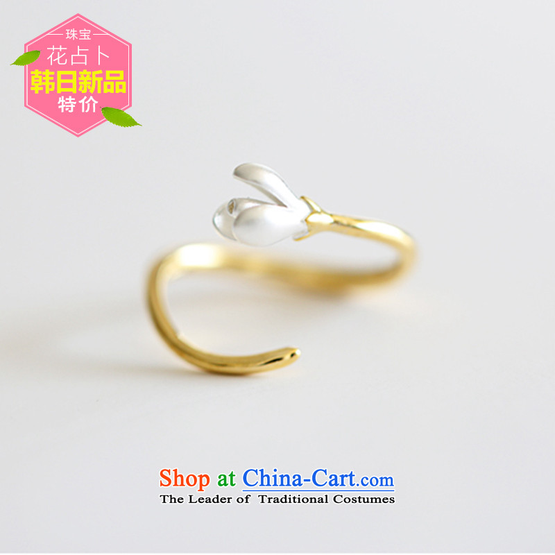 Pure silver rings female muck 925 silver silver rings opening arts adjustable tail precepts new gold rings China Wind Flower disciplinary point index finger guard against Korea jewelry S925 Pure Silver is not easily irritated