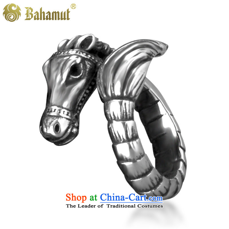 ?Titanium bahamut steel in the year of the horse by order of the Chinese zodiac, rings men Ma Ring Ring opening steel ring ring from the Korean version?of the perimeter of 25 65 20.7mm inside diameter
