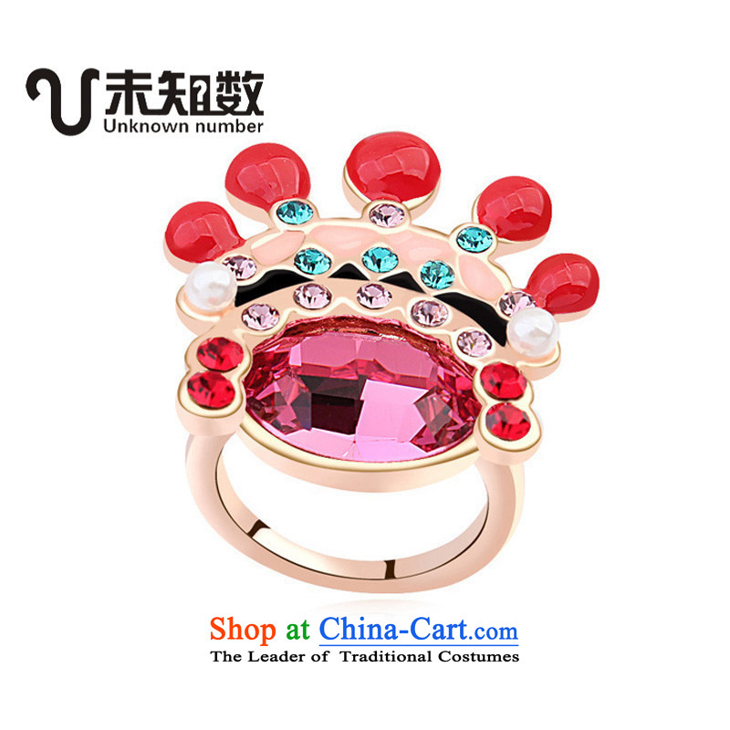 China wind Opera Painted Faces ring stylish rings is stylish jewelry boutique,?17 - 57mm circumference - Large