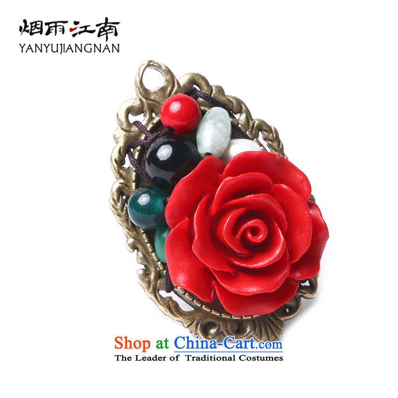 Rain carved roses paint Gangnam China wind ring finger exaggerated retro ethnic decorations are female (opening)