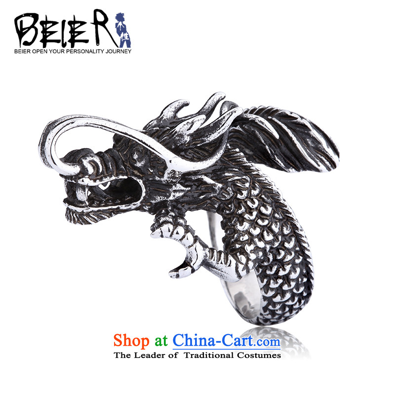 Beier聽China wind dragon rings men rings titanium steel chaoren opening rings men ring BR8-065 11_- code of the United States 25_