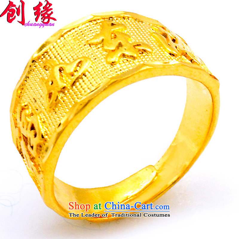 Income-edge jewelry gold rings men nickel gold rings gold jewelry well if the emulation of the East China Sea opening laps precepts are stamped to gift