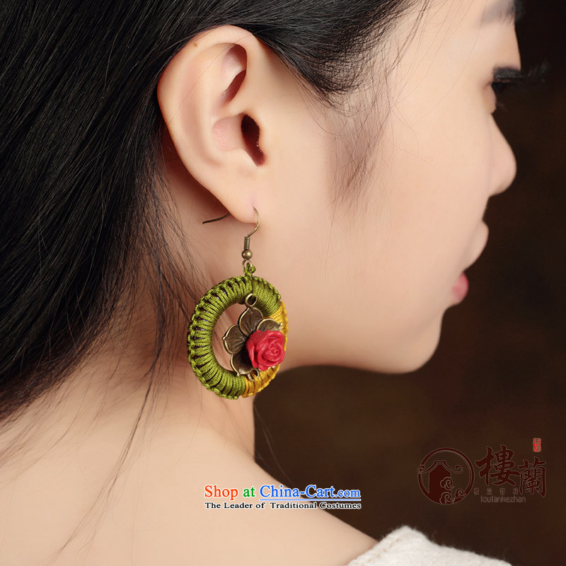 Original handcrafted accessories from retro look like China wind of the Grand Circle ear ear ornaments Fall Arrest of ethnic earrings female plain alloy earhook copper-colored __, not easy to deform the hardness is high