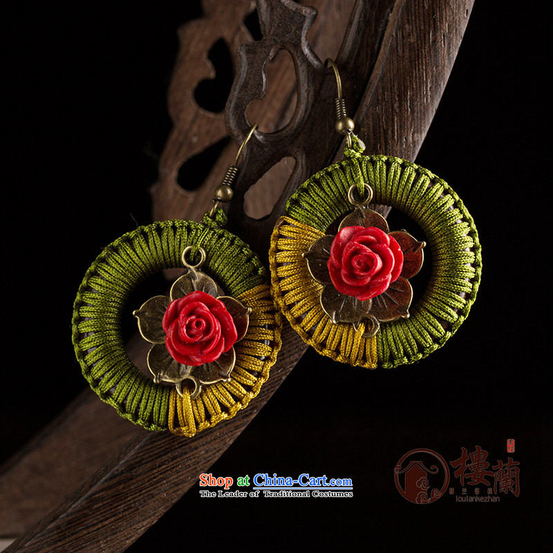 Original handcrafted accessories from retro look like China wind of the Grand Circle ear ear ornaments Fall Arrest of ethnic earrings female聽925 Yingerh Cod check_ANTI-ALLERGY plus 2 million
