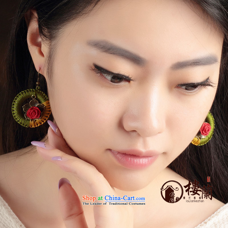 Original handcrafted accessories from retro look like China wind of the Grand Circle ear ear ornaments Fall Arrest of ethnic earrings female switch Ear Clip copper-colored _Fit plus _2 No Kungkuan