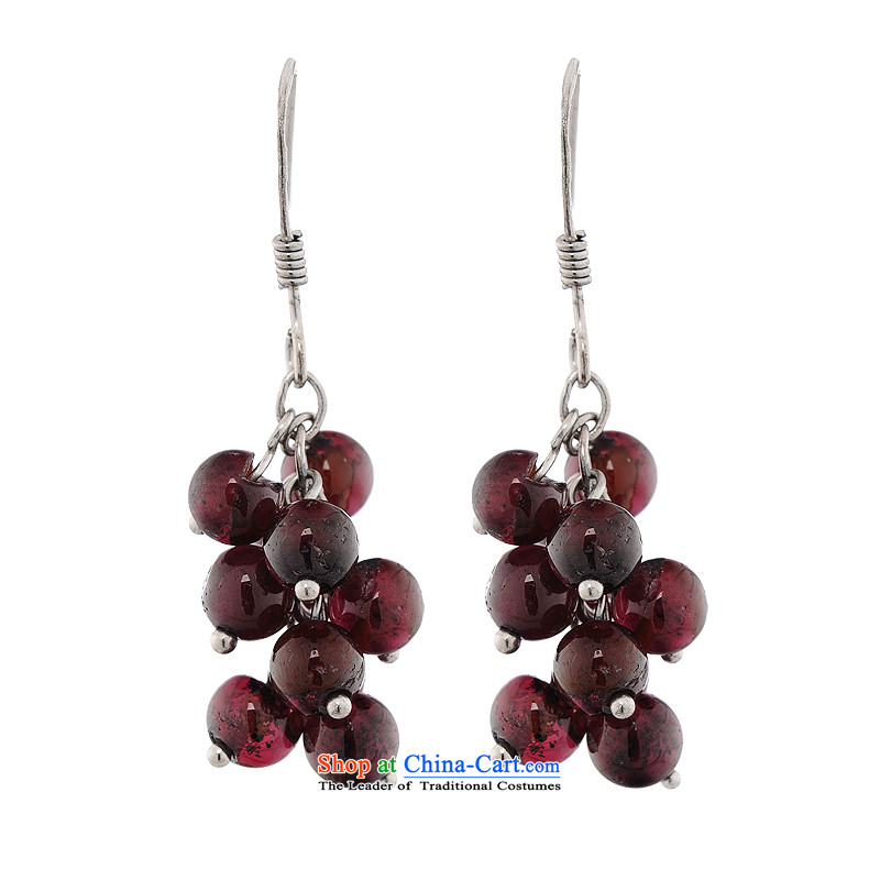 The talks with China wind beauty_聽925 silver Muscatel grapes earrings Ear Ornaments Love