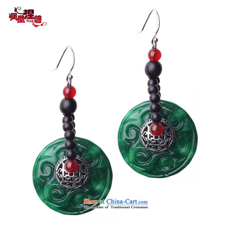 Phoenix Nirvana original earrings female retro dry Tsing lightning dates : 925 silver China wind manually AD035140110W Ornaments