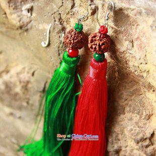 Mai Gigi Lai Festive China wind ear ornaments bodhi stylish edging dual color Earrings