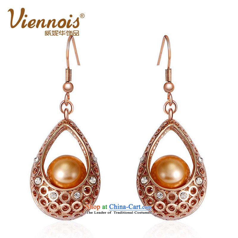 Verisign China viennois Connie rose gold stylish, classy and stylish wild female earrings with ornaments sent his girlfriend Kim in the Gift Charm