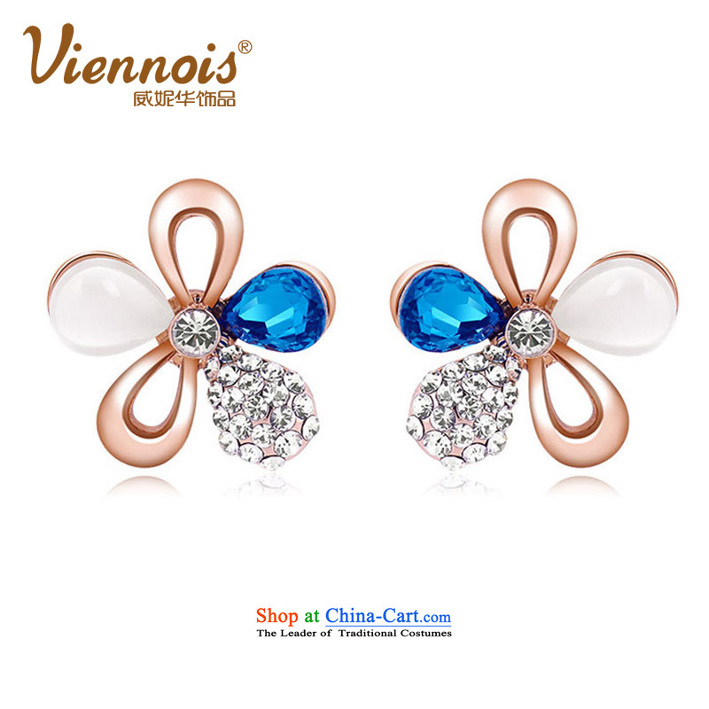 Verisign China viennois Connie rose gold Korean colorful wild Stylish ornaments with female earrings sent his girlfriend Kim in the Gift Charm
