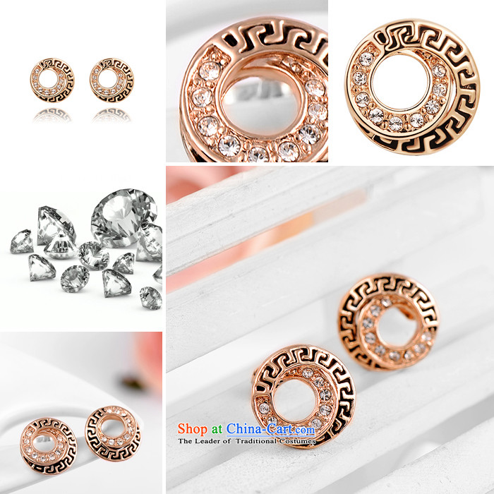 Ear Ornaments crystal gold-plated ancient style ears pierced ears female stylish jewelry products accessories diamond love S1 rose gold picture, prices, brand platters! The elections are supplied in the national character of distribution, so action, buy now enjoy more preferential! As soon as possible.