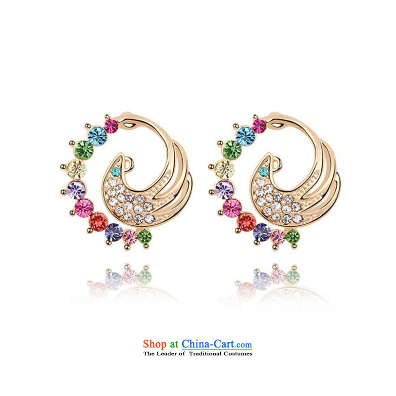 Unknown Reborn Phoenix From The Fire and stylish ears pierced gold women China wind ear ornaments of ethnic jewelry color