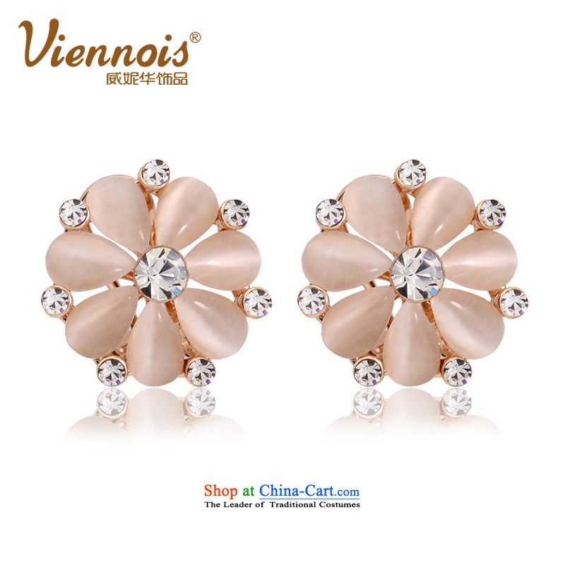 Verisign China viennois Connie rose gold romantic wild Stylish ornaments with female earrings sent his girlfriend Kim in the Gift Charm