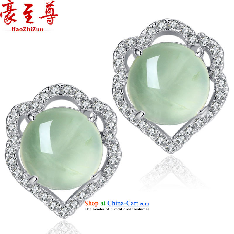 Ho extreme silverware elections as soon as possible 925 Yingerh Cod nails Xiangyun female natural stone 心耳 love nails grape China Wind, colored jewels ear ornaments green natural stone grape