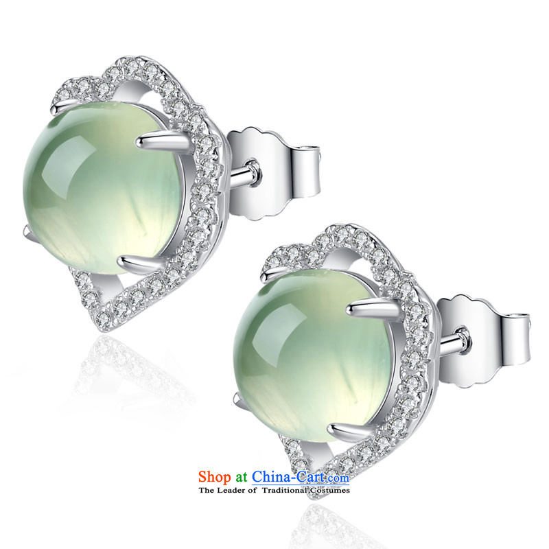 Ho extreme silverware elections as soon as possible 925 Yingerh Cod nails Xiangyun female natural stone 心耳 love nails grape China Wind, colored jewels Ear Ornaments Green Plum Stone, Ho natural extreme (haozhizun) , , , shopping on the Internet