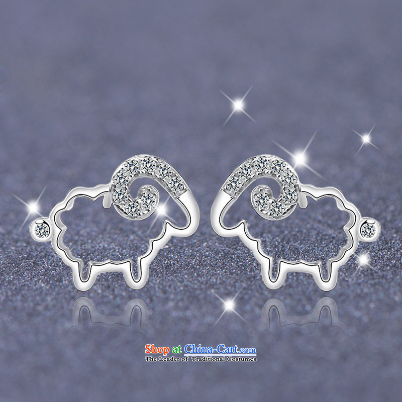 Tanabata lover, by order of the Board of the Chinese zodiac sheep ears pierced聽925 Jewelry Korean female xiaomeng sheep earrings stylish lovely female anti-allergy, qixi Lovers , , , shopping on the Internet
