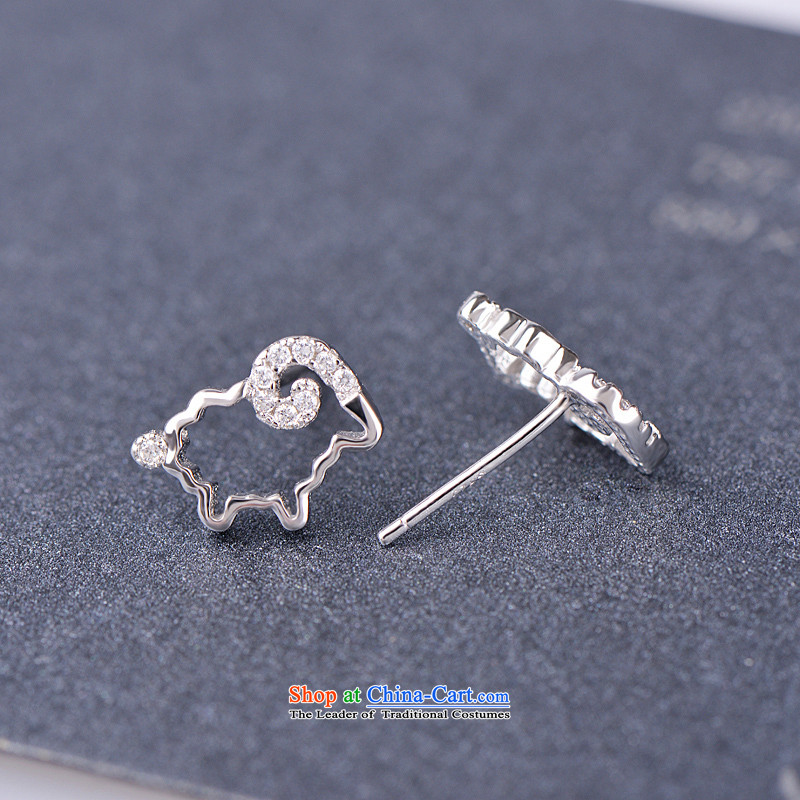 Tanabata lover, by order of the Board of the Chinese zodiac sheep ears pierced 925 Jewelry Korean female xiaomeng sheep earrings stylish lovely female anti-allergy, qixi Lovers , , , shopping on the Internet
