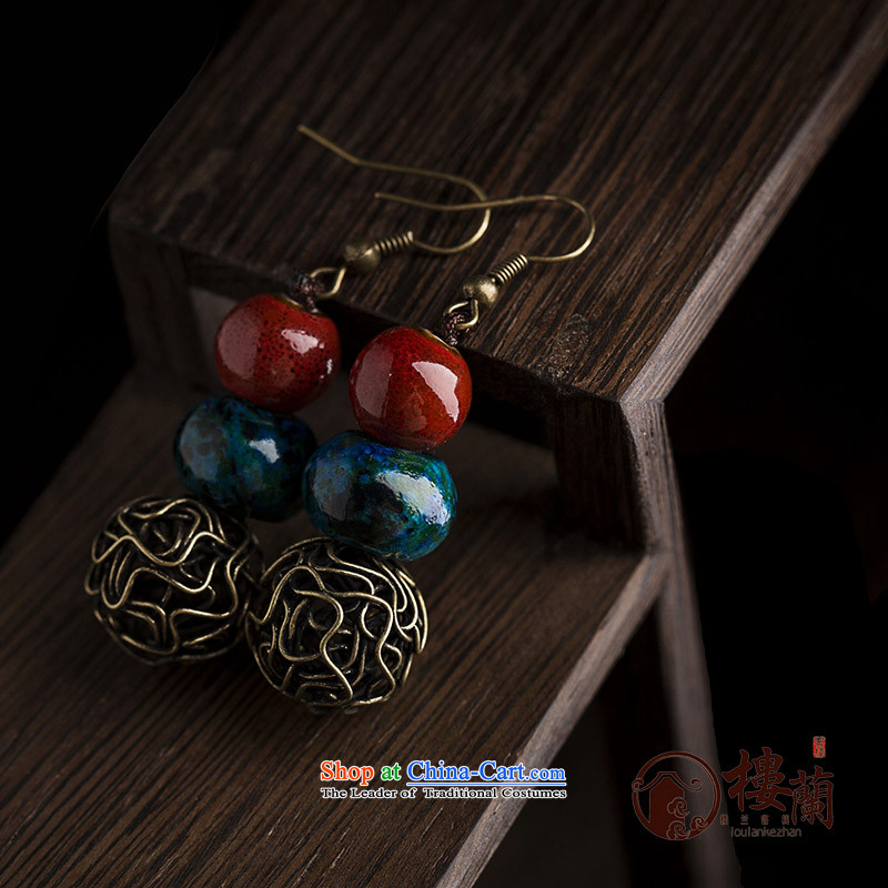 Original manually ceramic Phoenix stone jewelry products short of ancient ethnic groups wind earrings retro ear fall arrest girls聽925 Yingerh Cod check_ANTI-ALLERGY plus 2 million