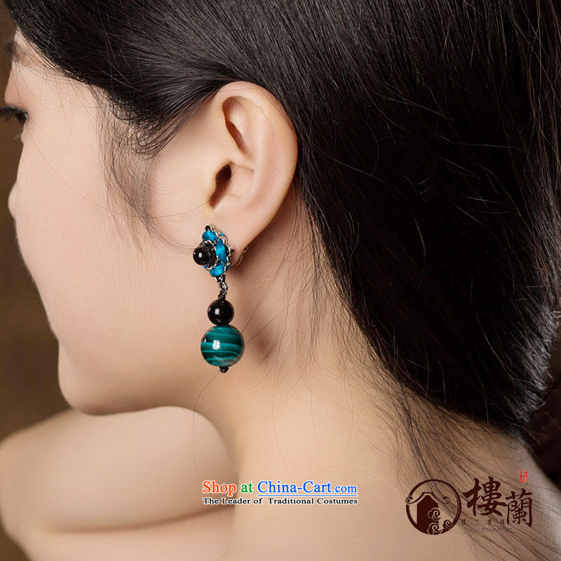 Original manually national retro China Wind Flower agate wild personality female ear nails, possession of the United States , , , shopping on the Internet