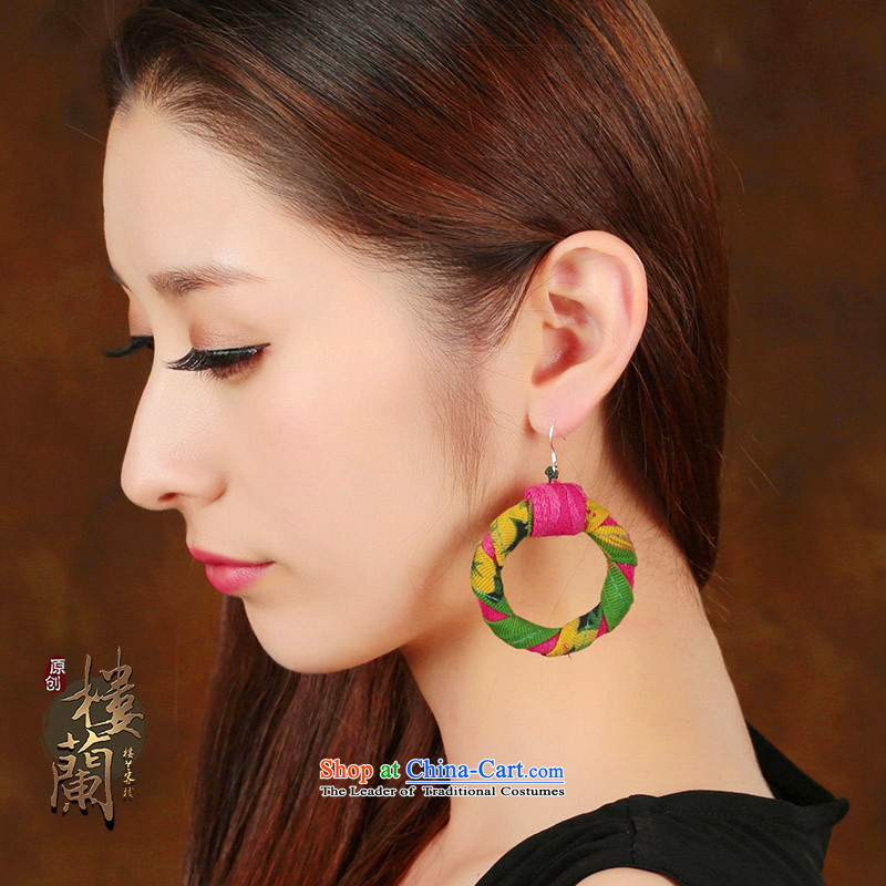 Yunnan ethnic wind ancient style large earrings retro circle exaggerated ear ear ornaments women fall arrester fabrics聽925 Yingerh Cod check_ANTI-ALLERGY plus 2 million