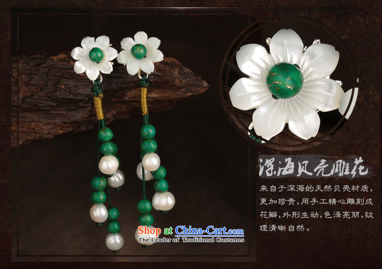 Ethnic ears pierced earrings long temperament female flowers green costume ancient shell ear ornaments picture, prices, brand platters! The elections are supplied in the national character of distribution, so action, buy now enjoy more preferential! As soon as possible.