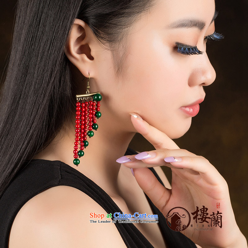 Ancient Costume Jewelry China wind magenta stream Sioux nation wind earrings marriages ear fall arrest girls聽925 Yingerh Cod check_ANTI-ALLERGY plus 2 million