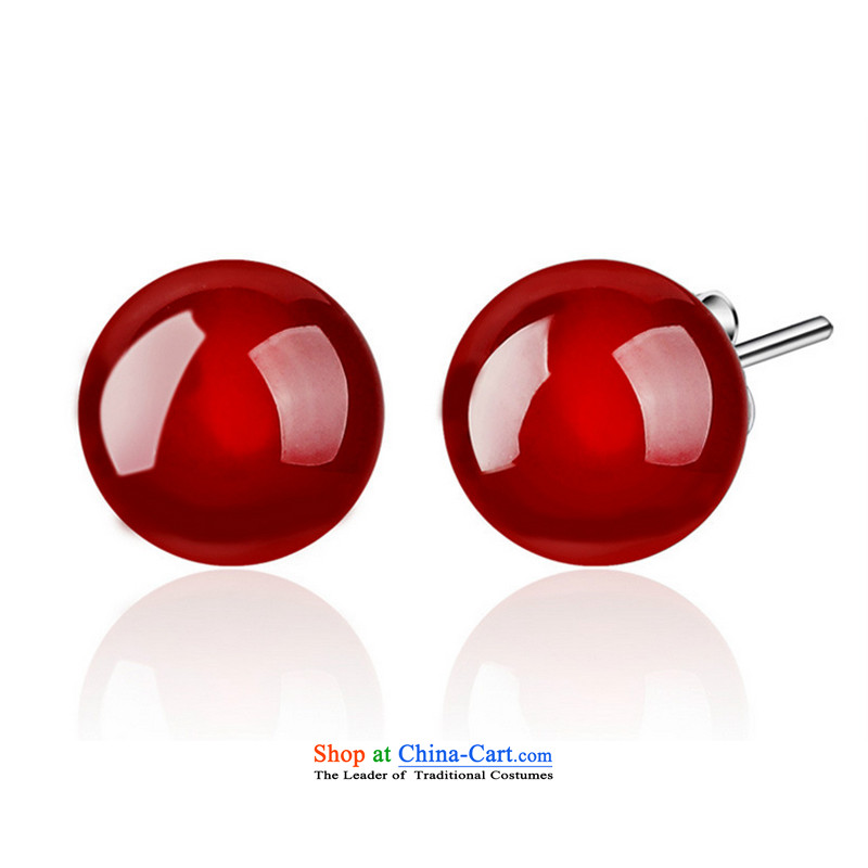 Kim Taek-Lung Cheung Emulation Red Agate ethnic Chinese red minimalist ears pierced Chinese red