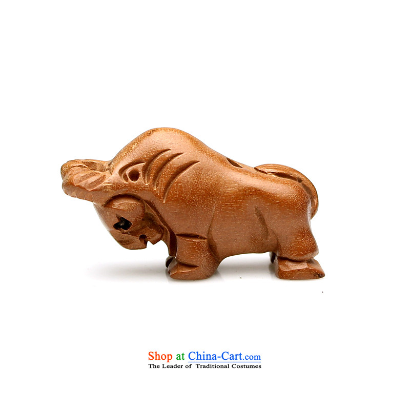 Natural mahogany wood carvings 12 zodiac bead mouse and the dragon and snake cattle Tiger Ma sheep dogs chicken farms DIY monkey hand string ornaments of the Chinese zodiac pig