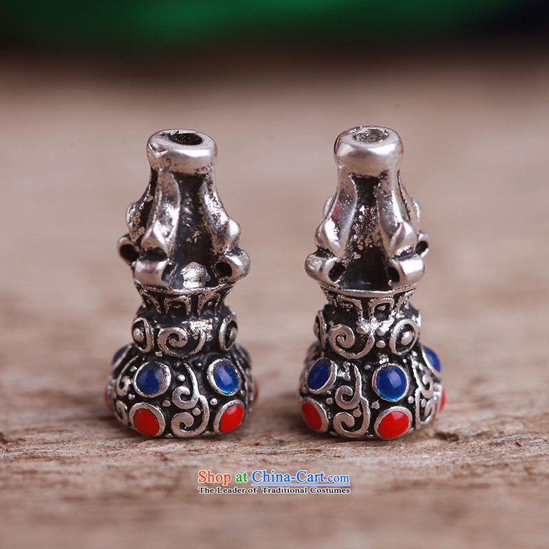The gold and silver ancient Tibetan-mt ringing law tee stupa DIY bead accessories with possession of silver accessories retro every large beads of a (13*24mm)