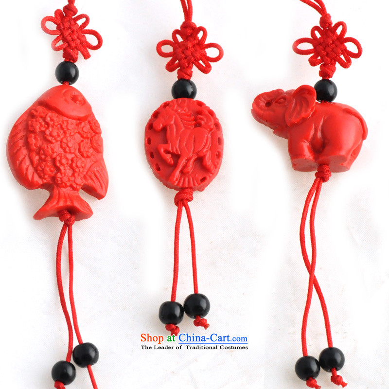 Lin Chinese carved ornaments red paint a number to send a random key package card kit