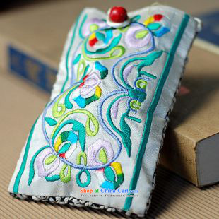 Gigi Lai retro Small packet of Mai embroidery hemp phone package China wind cell-phone ornaments embroidery phone Cloth Package offer