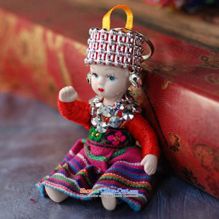 Mai Gigi Lai China Wind House Minority dolls eyes cartoon dolls and key-Yunnan ethnic promotion _single_