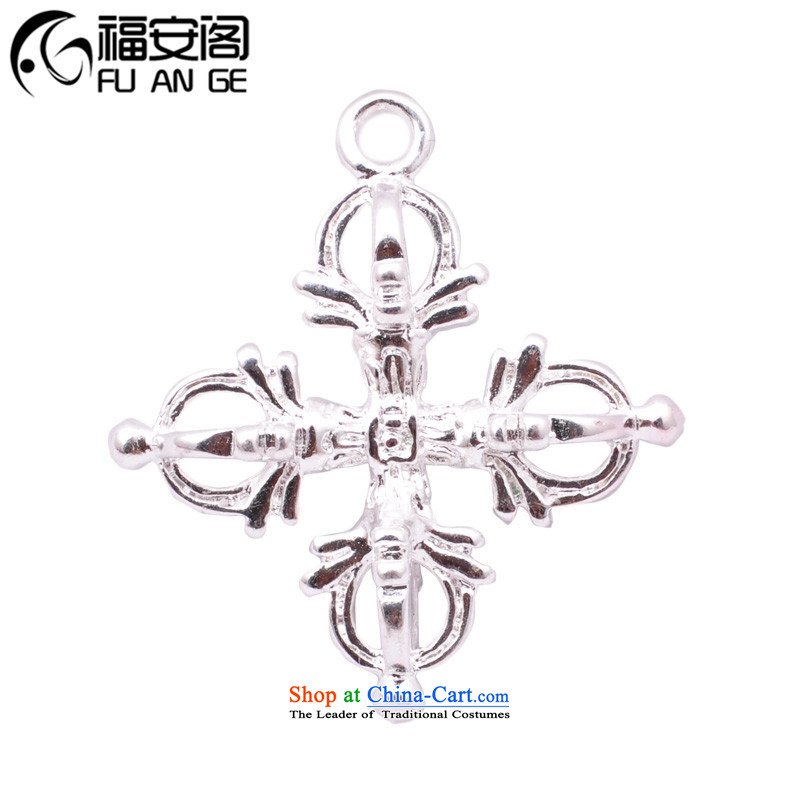 The Ascott?DIY Ancient Law Fuan lovage root cross devils making_ Silver Silver hand string old hand chain accessories accessories _ screws _?B_ around 30_34mm cross Bergamot is indeed - the old devils silver