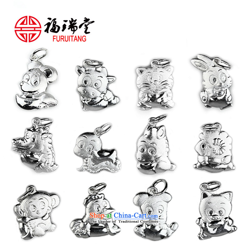 Diy silver 12 zodiac sheep pendants baby ornaments hanging cord hang on Lunar New Year Animals of the Chinese zodiac tiger necklace men and women Fall Arrest