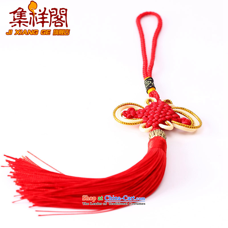 Cheung Kok Chinese characteristics set a high standard of Chinese guitarists and contemptuous of knot of the plum blossom field hanging multi-color flow su tassels DIY braided accessories large red