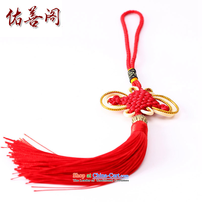 Woo Shin Ascott International China characteristics well field macrame Phillips head high and contemptuous of knot hanging multi-color flow su tassels DIY braided accessories large red