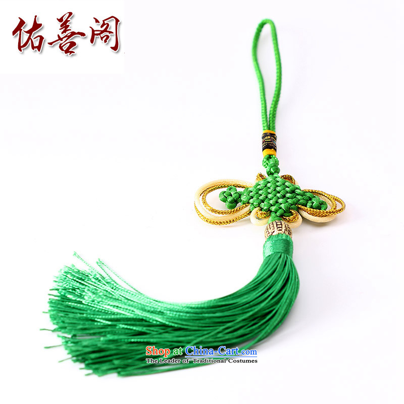 Woo Shin Ascott International China characteristics well field macrame Phillips head high and contemptuous of knot hanging multi-color flow su tassels DIY braided accessories dark green